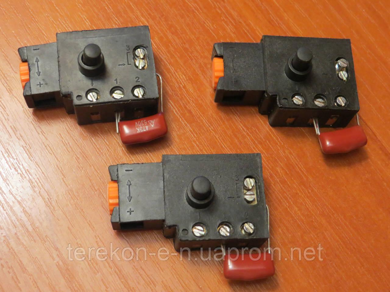 Кнопка с конденсатором на дрели