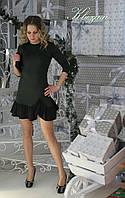 Платье с воланами по низу