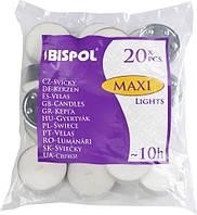 Свечи чайные Bispol Maxi Lights 2,4 см 20 шт (p40-20)