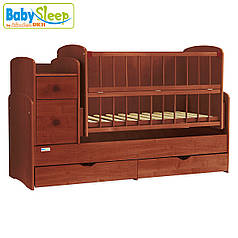 Детская кроватка-трансформер Baby Sleep Angela DTP-S-B Mahagoni (махагон)