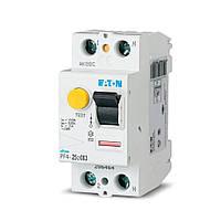 Дифференциальное реле (УЗО) EATON PF4-2Р ,25А, 003мА, тип АС