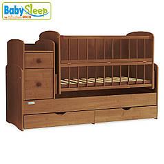 Детская кроватка-трансформер Baby Sleep Angela DTP-S-B  Nussbaum (орех)