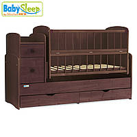 Детская кроватка-трансформер Baby Sleep Angela DTP-S-B Nussbaum Dunkel (т.орех)
