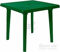 Садовый стол пластиковый зеленый квадратный (для кафе и улиц)