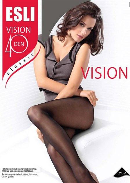 Колготки женские Esli VISION 40 ден, размер 2-4, Беларусь