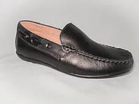 Детские туфли на мальчика 27-32 р., мокасины черные