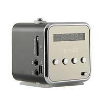 Мини портативная MP3 колонка USB FM TD-V26 Black