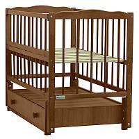 Детская кроватка Baby Sleep Aurora AKP-S-B Nussbaum (орех)