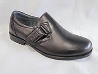Детские туфли на мальчика 27-32 р., на маленком каблуке, сбоку липучка