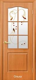 Дверное полотно Классик с рисунком Р1 пвх De luxe