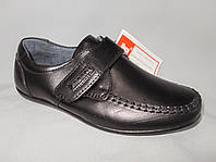 Детские туфли на мальчика 27-32 р., плоская подошва, липучка, прошивка