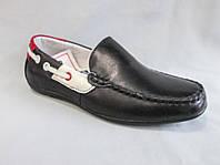 Детские туфли на мальчика 27-32 р., мокасины с разноцветной отделкой