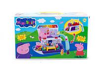 Игровой набор tm8837a/38a кораблик, свинки, в коробке 36*26 см
