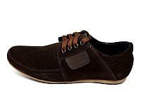 Мужские туфли нат. кожа замш Van Kristi KN Brown Наличии размера: 41 43 44 45