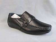 Детские туфли на мальчика 27-32 р., мокасины с ремешком и пряжкой