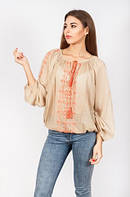 Блуза женская вышитая с длинным рукавом