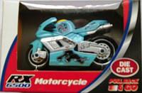 FunTastic Красный Rx6500 Игрушка Die Cast мотоциклы с обратным движением