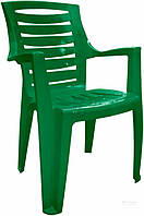 Садовое кресло прочное зеленое из пластика  (для кафе и улиц)