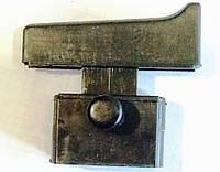 Кнопка включения УШМ болгарки Craft CAG-180/1900, Wintech WAG-180NF и др. фиксатор, 4 контакта