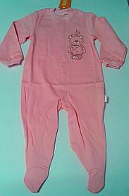Комбінезон Для малюків Рожевий 74 см 7 м. Інтерлок 03077001134 КБ77е Бембі Україна