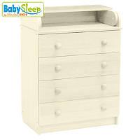 Комод-пеленатор детский Baby Sleep Stella DKK-C Elfenbein (сл.кость)