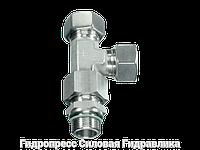 Резьбовые соединения тройниковые EL - метрическая резьба - с накидной гайкой типа SC, Нержавеющая сталь