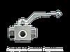 Шаровой кран 3-ходовой BK 3 T-образная форма ANSI B 2.1 PTFE - FKM, Нержавеющая сталь