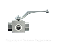 Шаровой кран 3-ходовой BK 3 L-образная форма DIN ISO 228 POM - NBR, Нержавеющая сталь