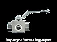 Шаровой кран 3-ходовой BK 3 L-образная форма DIN ISO 228 PTFE - FKM, Нержавеющая сталь