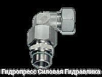 Резьбовые соединения угловые EW с накидной гайкой типа стандарт, Нержавеющая сталь, фото 1