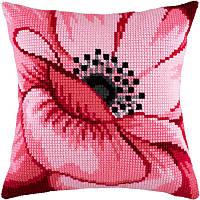 Набор для вышивки крестом Чарівниця Z-37 Подушка Розовый цветок
