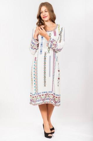 Платье женское прямого кроя с узором
