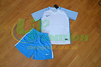 Футбольна форма для команд Nike Найк блакитна біла, фото 1