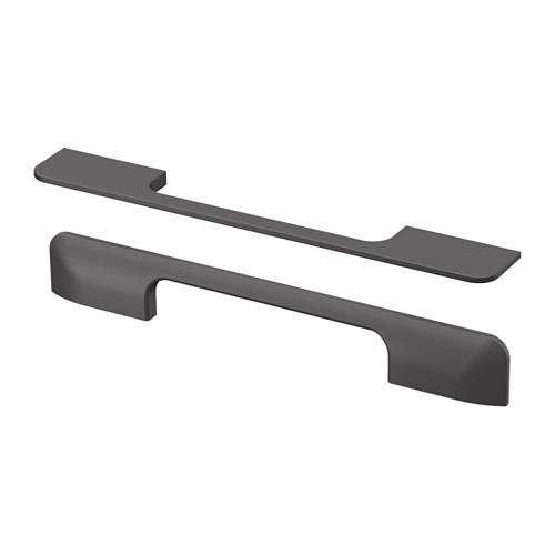 "IKEA ""БЕРГХАЛЛА"" Ручка, серый, 2 шт, 235 мм."