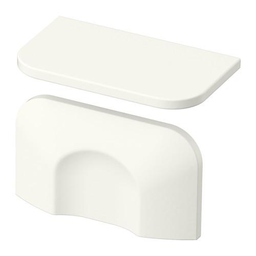 "IKEA ""БЕРГХАЛЛА"" Ручка, белый, 2 шт, 56 мм."