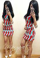 Женское стильное платье с рукавами из гипюра (в расцветках)