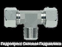 Тройник резьба конусная - стандарт, Нержавеющая сталь, фото 1