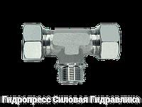 Тройник резьба цилиндрическая - стандарт, Нержавеющая сталь