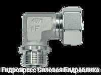 Угловое трубное соединение резьба метрическая - цилиндрическая, Нержавеющая сталь