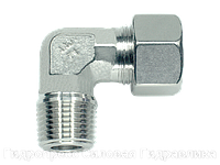 Угловое трубное соединение резьба метрическая - конусная, Нержавеющая сталь