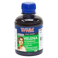 Черные чернила wwm helena hu/b для hp 200г black водорастворимые с расширенной совместимостью