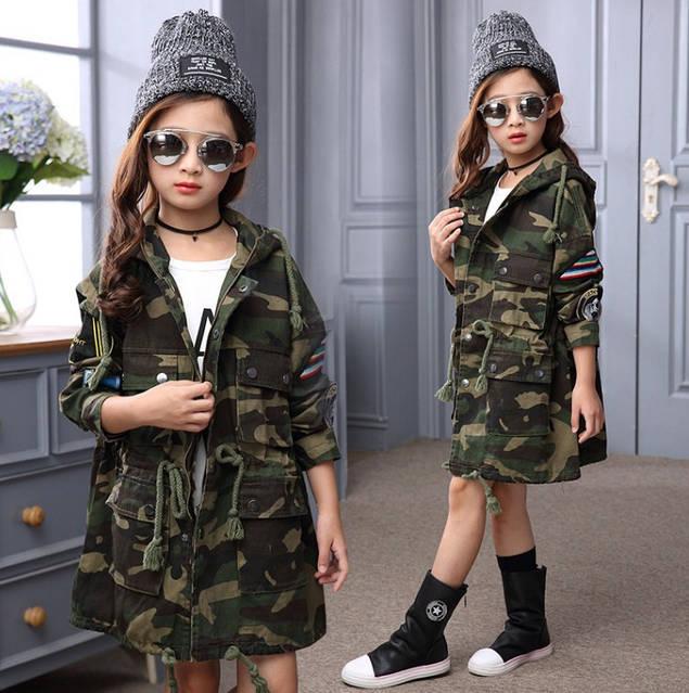 Весенний супер хит, куртка для девочки в стиле Милитари, фото 1