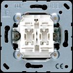 Выключатель двухклавишный маршевый (проходной) Jung 509U механизм