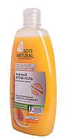 Нежный крем- гель для душа и ванны NATURAL SPA сочный персик и масло абрикоса 500 мл