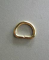 Полукольцо литое 15 мм, золото