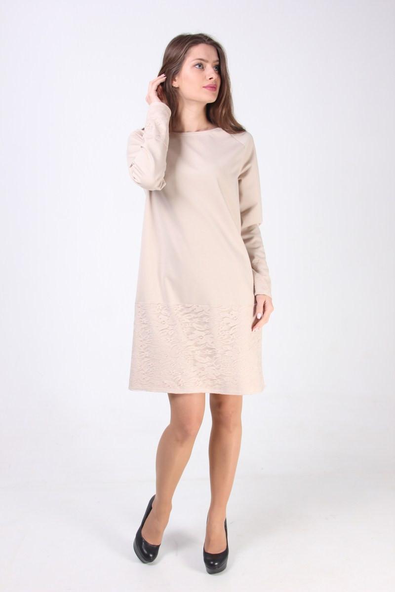 Платье-трапеция пастельного цвета