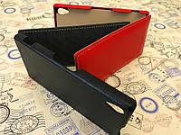 Кожаный чехол флипTetDed для Sony Xperia Z2 D6502 черный и красный