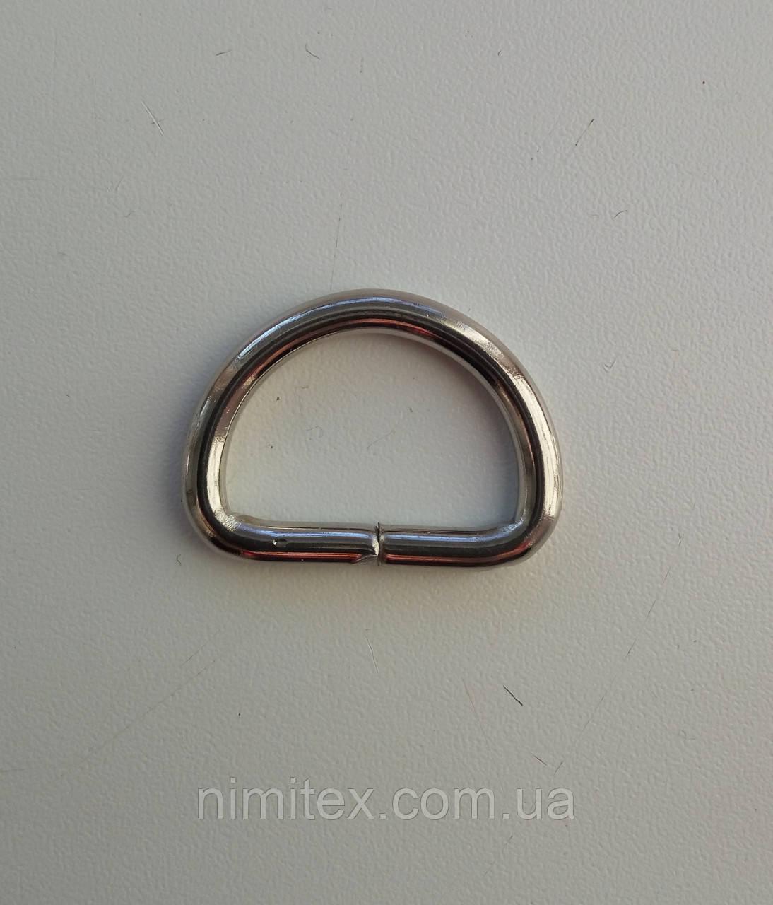 Полукольцо литое 25 мм никель