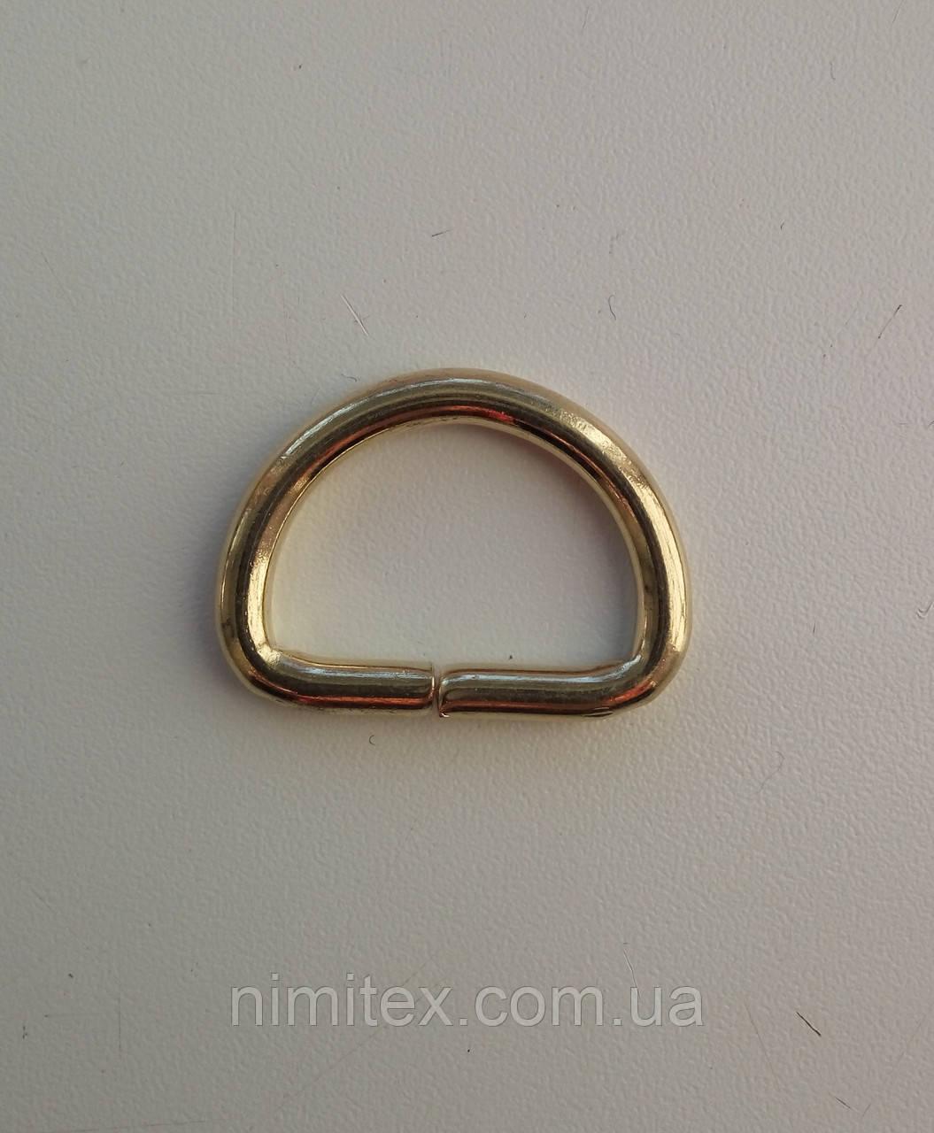 Полукольцо литое 25 мм золото