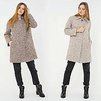 Свободное пальто из шерсти в расцветках u-alb02208